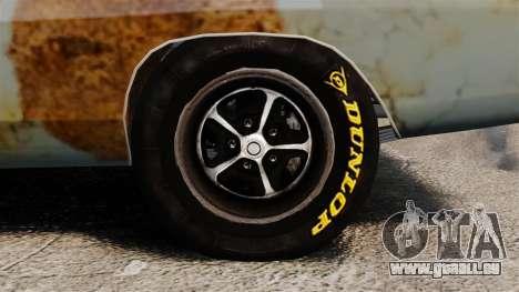 Dodge Charger RT 1969 rouillé v1.1 pour GTA 4 Vue arrière