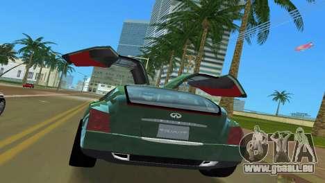 Infiniti Triant pour une vue GTA Vice City de l'intérieur