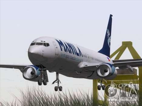 Boeing 737-800 Spirit of Manila Airlines für GTA San Andreas Rückansicht