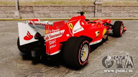 Ferrari F138 2013 v6 pour GTA 4 Vue arrière de la gauche