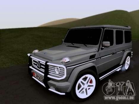 Mercedes-Benz G55 AMG pour GTA San Andreas vue de côté