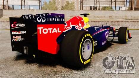 Voiture, Red Bull RB9 v5 pour GTA 4 Vue arrière de la gauche