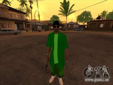 Nouvelle peau Groove st. pour GTA San Andreas troisième écran