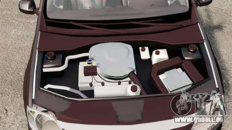 Dacia Logan 2008 v2.0 pour GTA 4 est une vue de l'intérieur