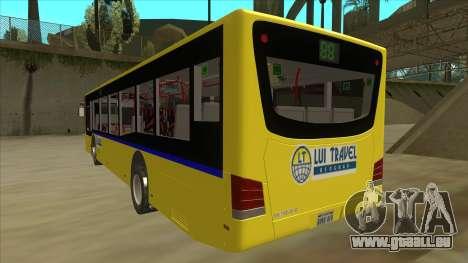 Bus Line 88 Novi Zeleznik für GTA San Andreas Rückansicht