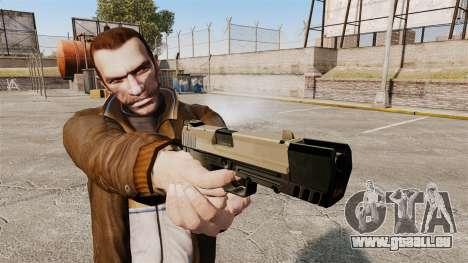Chargement automatique pistolet USP H & K v3 pour GTA 4 troisième écran