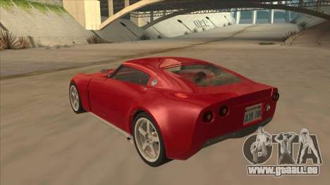 Melling Hellcat Custom pour GTA San Andreas vue arrière