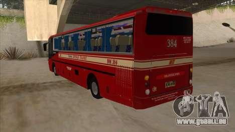 Bagong Lipunan Transit BM 384 für GTA San Andreas Rückansicht