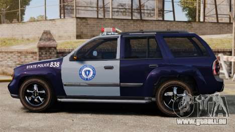 Chevrolet Trailblazer 2002 Massachusetts Police für GTA 4 linke Ansicht
