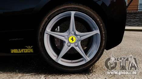 Ferrari 458 Italia 2010 Wheelsandmore 2013 pour GTA 4 est un côté