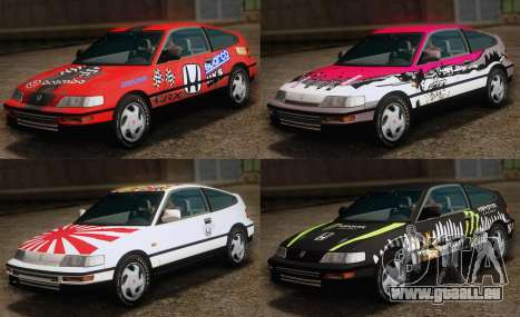 Honda CR-X 1991 pour GTA San Andreas salon