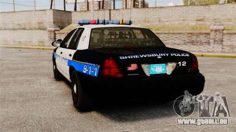 Ford Crown Victoria Police Massachusetts ELS pour GTA 4 Vue arrière de la gauche