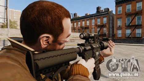 Taktische M4-v2 für GTA 4 Sekunden Bildschirm