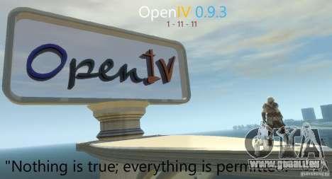 OpenIV 0.9.3 für GTA 4 Sekunden Bildschirm