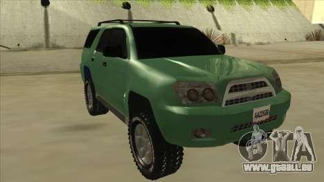 Toyota 4Runner 2009 v2 pour GTA San Andreas laissé vue