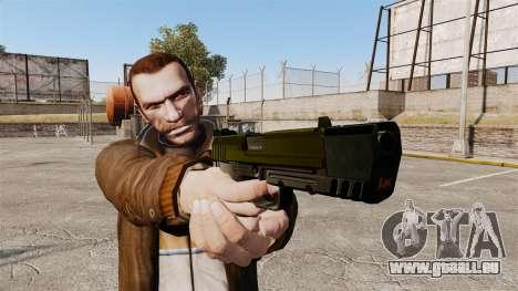 Chargement automatique pistolet USP H & K v5 pour GTA 4 troisième écran