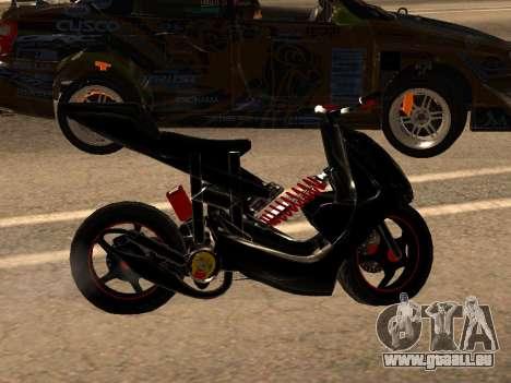 Yamaha Aerox pour GTA San Andreas