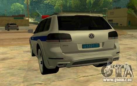 Volkswagen Touareg R50 pour GTA San Andreas vue arrière