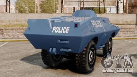 S.W.A.T. Police Van pour GTA 4 Vue arrière de la gauche
