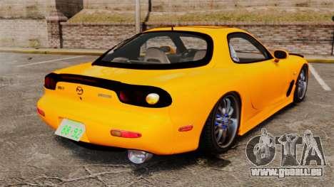 Mazda RX-7 FD3S pour GTA 4 Vue arrière de la gauche