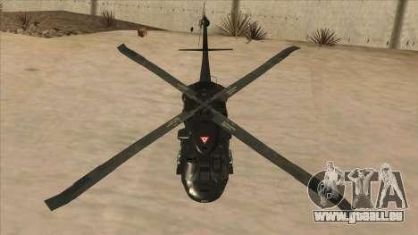 Sikorsky UH-60L Black Hawk Mexican Air Force für GTA San Andreas Seitenansicht