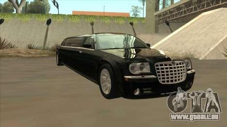 Chrysler 300C Limo 2006 pour GTA San Andreas vue arrière