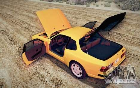 Porsche 944 Turbo Coupe 1985 pour GTA San Andreas vue de dessus