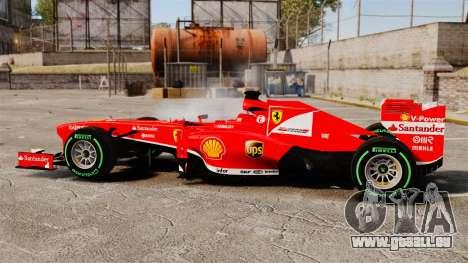 Ferrari F138 2013 v3 für GTA 4 linke Ansicht