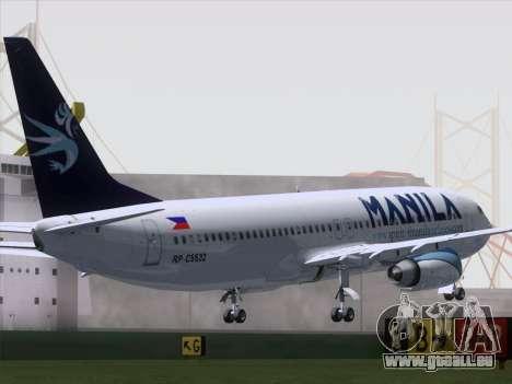 Boeing 737-800 Spirit of Manila Airlines für GTA San Andreas