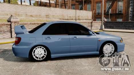Subaru Impreza WRX 2001 für GTA 4 linke Ansicht
