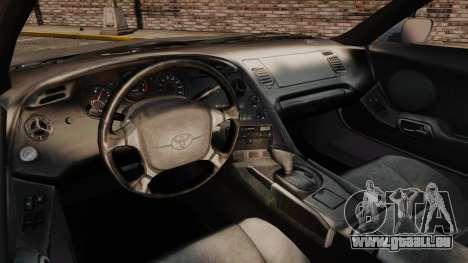Toyota Supra MKIV 1995 v3.5 pour GTA 4 Vue arrière