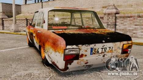 Tofas Serce Rusty pour GTA 4 Vue arrière de la gauche