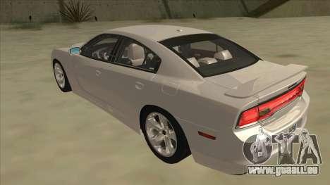 Dodge Charger RT 2011 V2.0 für GTA San Andreas Rückansicht