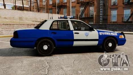 Ford Crown Victoria Police Massachusetts ELS pour GTA 4 est une gauche