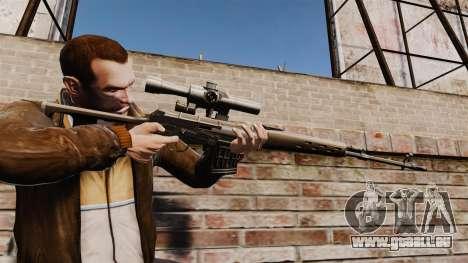 Dragunov sniper rifle v1 pour GTA 4
