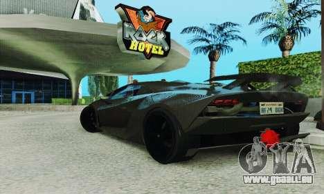 Lamborghini Sesto Elemento für GTA San Andreas Innenansicht