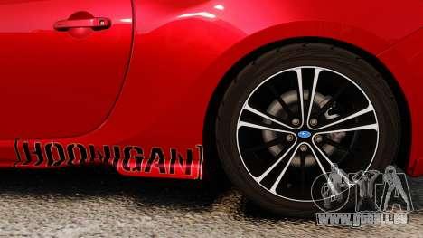 Subaru BRZ Rocket Bunny Aero Kit Hoonigan für GTA 4 Rückansicht