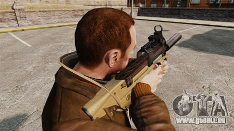Belge FN P90 pistolet mitrailleur v4 pour GTA 4 secondes d'écran
