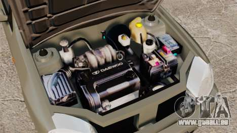 Daewoo Lanos Sport PL 2000 pour GTA 4 est une vue de l'intérieur