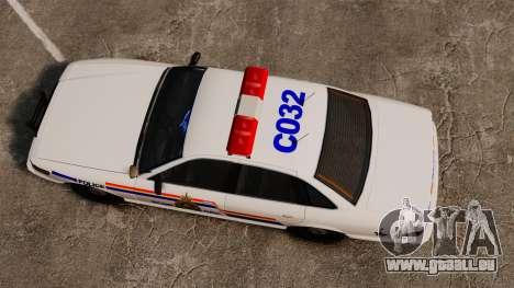 Die Royal Canadian Mounted Police für GTA 4 rechte Ansicht