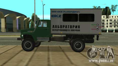 Avtolaboratoriâ GAZ 3309 Sadko pour GTA San Andreas laissé vue