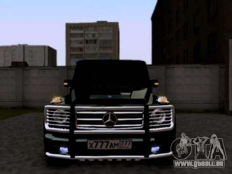 Mercedes-Benz G55 AMG pour GTA San Andreas laissé vue