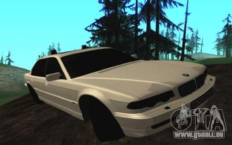 BMW 750iL E38 avec lumières clignotantes pour GTA San Andreas laissé vue
