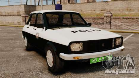 Renault 12 Classic 1980 Turkish Police pour GTA 4