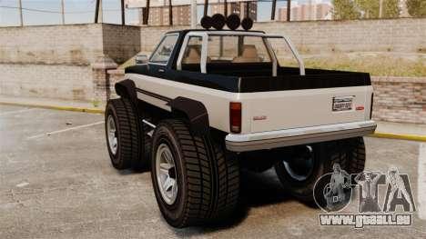Monster Truck pour GTA 4 Vue arrière de la gauche
