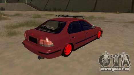 Honda Civic V2 BKModifiye pour GTA San Andreas vue de droite
