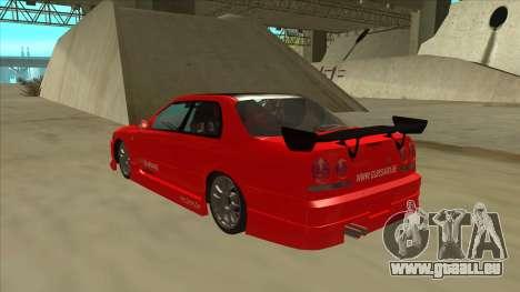 Nissan Skyline ER34 JDMGarage für GTA San Andreas Rückansicht