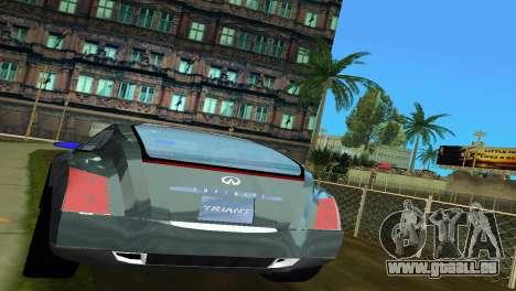 Infiniti Triant pour GTA Vice City vue arrière