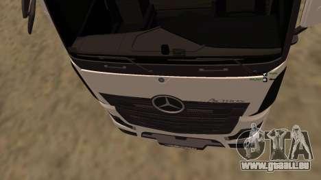 Mercedes-Benz Actros für GTA San Andreas Rückansicht