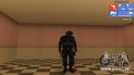 Peau SWAT pour GTA San Andreas sixième écran
